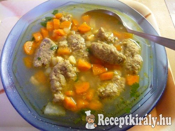 Csirkemájgaluska leves