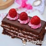 Csokis málnás szelet - paleo 1