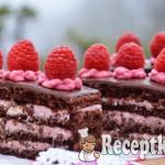 Csokis málnás szelet - paleo