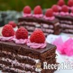 Csokis málnás szelet - paleo 2