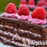 Csokis málnás szelet - paleo 3