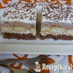 Csokis-vaníliás krémes szelet