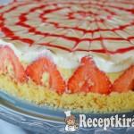 Epres vaníliakrémes torta - paleo