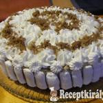 Gesztenyés-diós torta 1