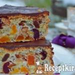 Gyümölcskenyér tojásfehérjéből csokimázzal - paleo 3
