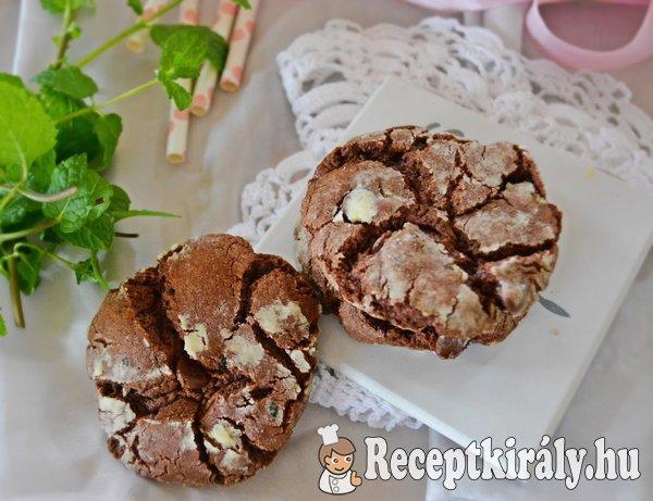 Mentás csokis keksz