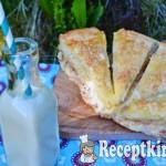 Réteges tejfölös sonkás pogácsa 1