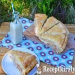 Réteges tejfölös sonkás pogácsa 2