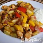 Serpenyős zöldséges csirke 1