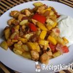 Serpenyős zöldséges csirke 2