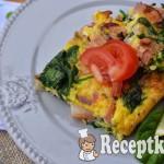 Sonkás spenótos tojáslepény - paleo 1
