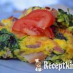 Sonkás spenótos tojáslepény - paleo