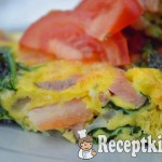 Sonkás spenótos tojáslepény - paleo 2