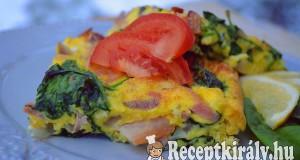 Sonkás spenótos tojáslepény – paleo