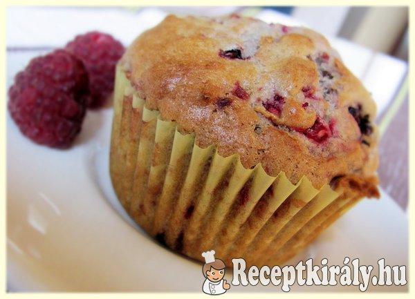 Szedres-málnás muffin
