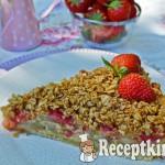 Vaníliakrémes eper-rebarbara pite zabpelyhes morzsával 1