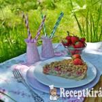 Vaníliakrémes eper-rebarbara pite zabpelyhes morzsával 2