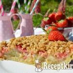 Vaníliakrémes eper-rebarbara pite zabpelyhes morzsával 3