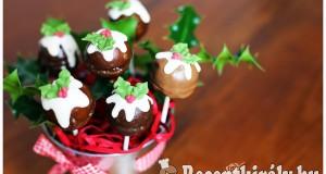 Cake pop karácsonyi köntösben