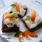 Csokis barackos szelet 1