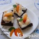 Csokis barackos szelet 2