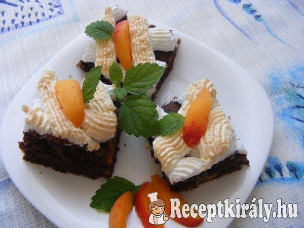 Csokis barackos szelet