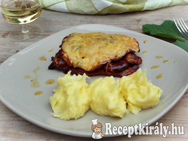 Fügés-sajtos hússzelet