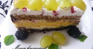Gyümölcsös szelet Marcsi konyhájából