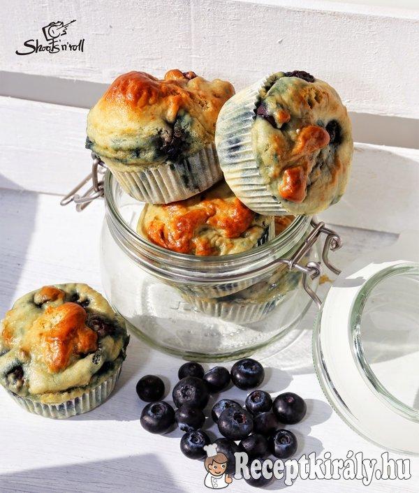 Kék áfonyás protein muffin