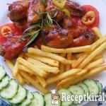 Kethcupos szójaszószos csirkeszárny