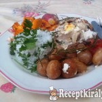 Rakott csirkemell sült zöldségekkel, petrezselymes rizzsel-1