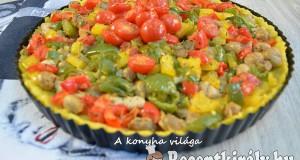 Zöldséges polenta lepény