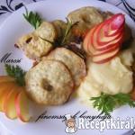 Almás sajtos szelet zelleres burgonyapürével 1
