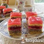 Bonbon meggyes sütemény 3