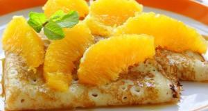 Vaníliás francia palacsinta narancslekvárral
