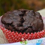 Avokádós datolyás muffin gesztenyés krémmel - paleo 1