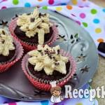 Avokádós datolyás muffin gesztenyés krémmel - paleo 2