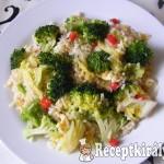 Barna rizs zöldségekkel 2