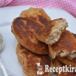 Diós karfiolfasírt uborkás mártogatóval - paleo 3