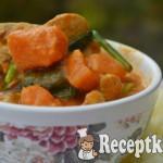 Fűszeres kókuszos csirkeragu sütőtökkel és spenóttal - paleo 2