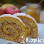 Gyors fahéjas almás tekercs - paleo 1