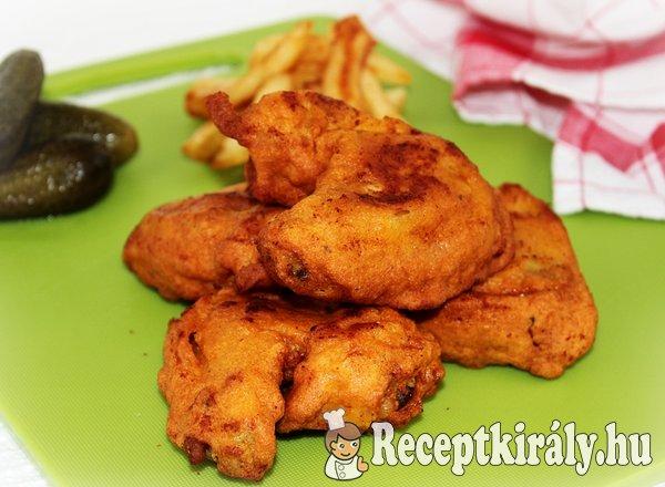 Csirkeszárny fűszeres-kukoricalisztes bundában