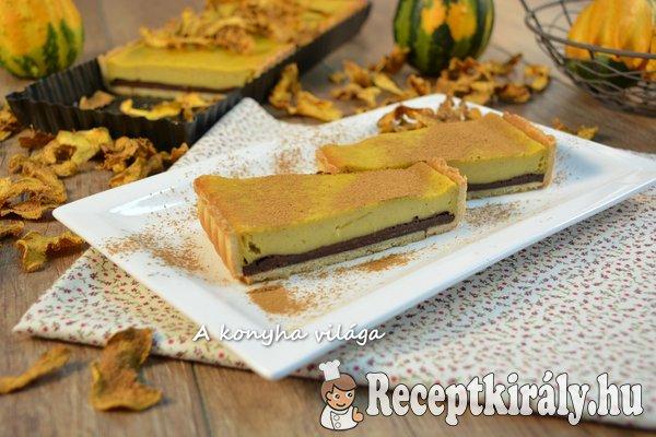 Sütőtökös csokoládés pite