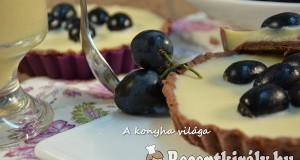 Szőlős borkrémes mini pite