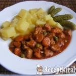 Vörösboros-zöldséges sertéspörkölt 2