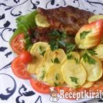 Sült tarja sült burgonyával
