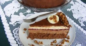 Erdei gyümölcsös csoki mousse torta