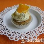 Fehércsokis mákos muffin