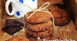 Gyömbéres-csokoládés keksz