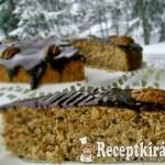 Mogyorós gesztenyés sütemény csokimázzal 1